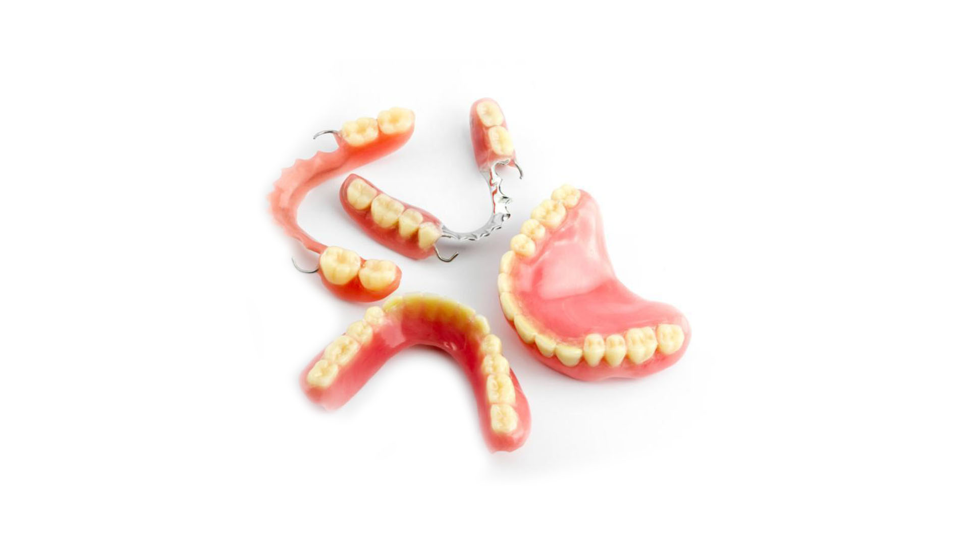 Example of partial dentures